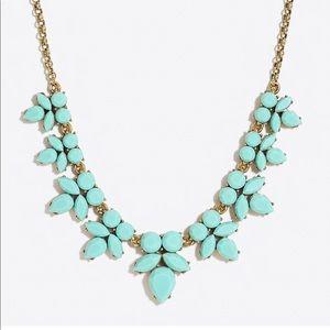 NWT J CREW Gemstone petal necklace in aqua